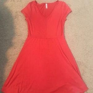 Target brand dress with optional blue belt.
